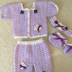 Other - NEW Handmade Purple Baby Outfit